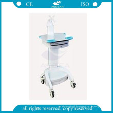 AG-WT001B instrument plastic medical mobile computer trolley